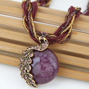 Jewelry - !!3/25!!  FULL MOON ANTIQUE NECKLACE (BURGUNDY)